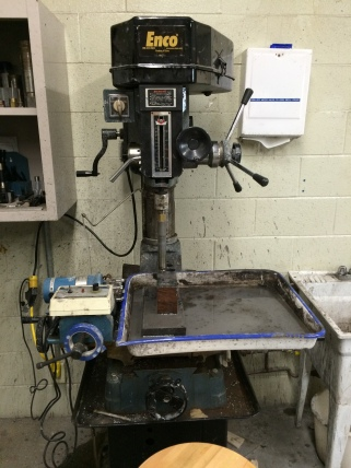 Drill press using for coring samples
